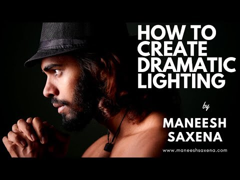 Dramatic lighting using one strobe light in the studio.Behind the scenes | photo shoot | Hindi