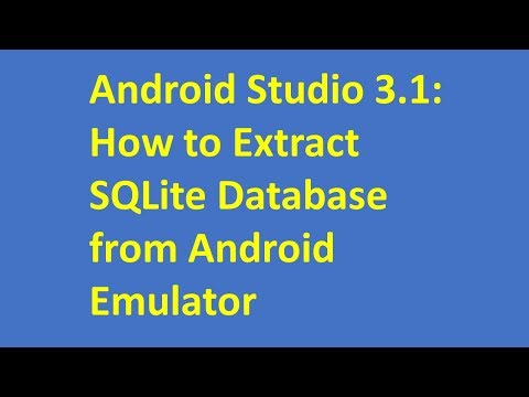 Android Studio 3.1: How to Extract SQLite Database from Android Emulator