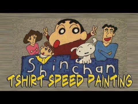 T Shirt Speed Painting: 5 Shin Chan  しんちゃん
