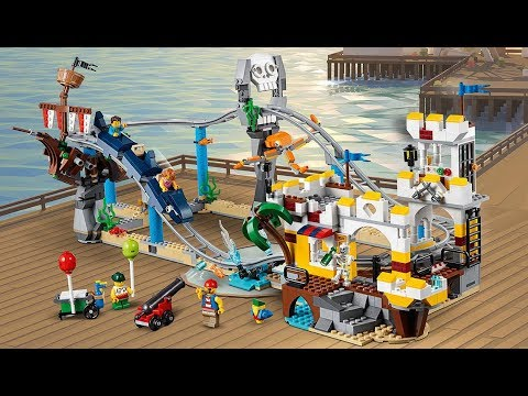 LEGO Creator 3in1 Pirate Roller Coaster is a WILD Ride! - 31084