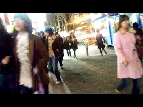 Walking from Sinchon station to Caribou cafe (Seoul Korea) - Hyunwoo Sun