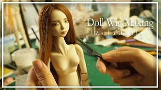 How to make a doll's wig | doll's wig making