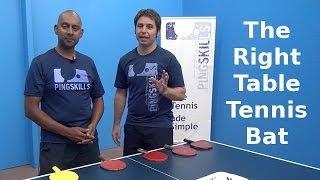 Choosing a Table Tennis Bat   PingSkills