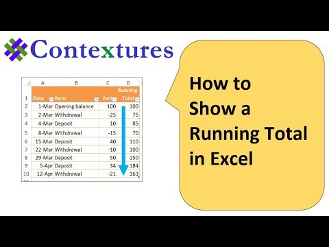 How to Show a Running Total on Excel Worksheet