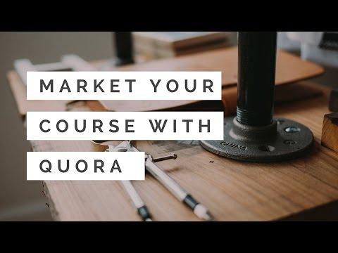 Market Your Online Course Using Quora