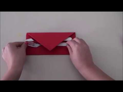 How to Fold a Napkin Into Envelope