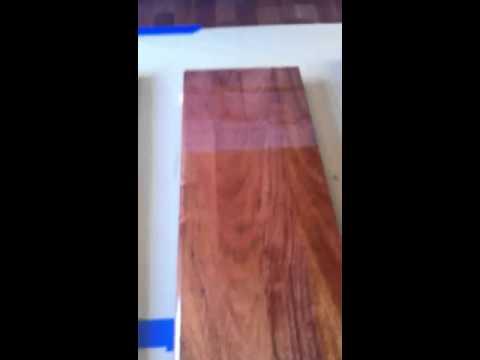 Waterlox Wood Finish on Jatoba Brazilian Cherry