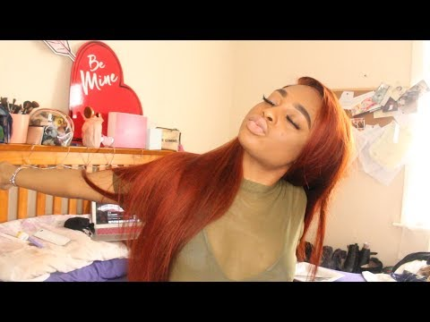 DYING MY BUNDLES/FRONTAL COPPER RED ft. ALIPEARL HAIR