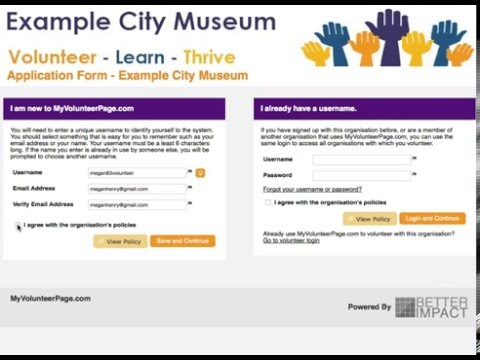 Volunteer Impact - Volunteer Application Form - UK Version