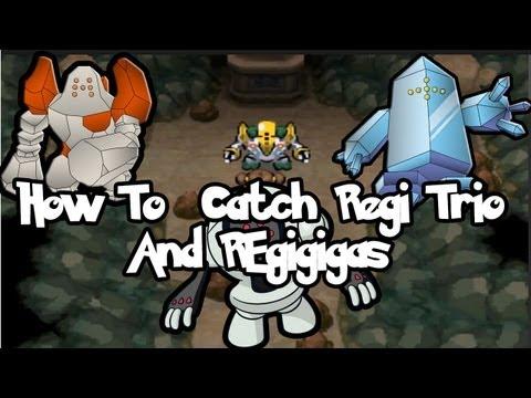 How & Where to Get/Catch Regirock, Registeel, Regice Trio and Regigigas in Pokemon Black 2 & White 2