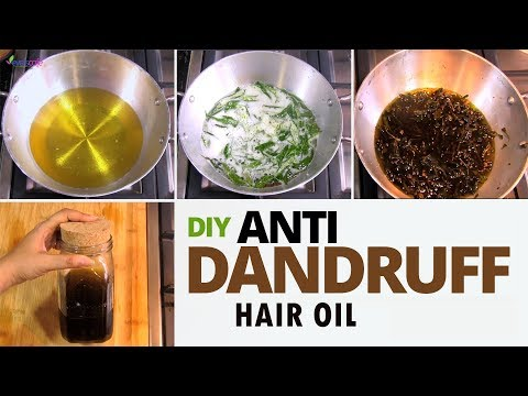 Powerful Anti Dandruff Hair Oil Preparation  - Treat Dandruff at Home