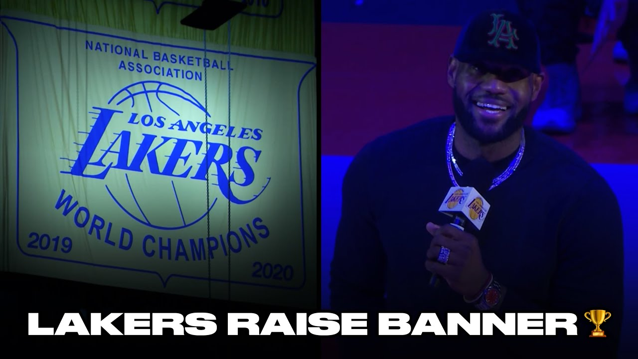 LeBron James, Anthony Davis, Lakers Celebrate 17th Championship Banner At Staples Center