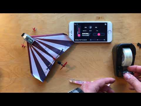 How to add additional turning power to your POWERUP DART Smartphone controlled paper plane