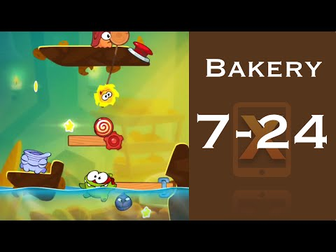 Cut the Rope 2 Walkthrough - Bakery 7-24 - 3 Stars + Medal
