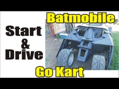 Batmobile go kart drive with new engine