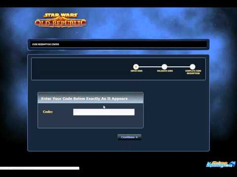 SWTOR Tutorial: How to apply Game Time Card to your SW:TOR Account