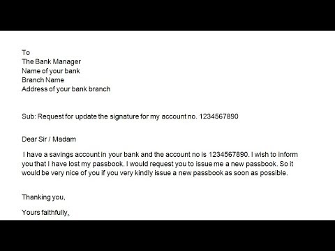 How to write an application to bank manager to issue a new passbook? || Simplified in Hindi