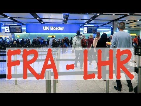 Boarding Frankfurt Airport (Terminal 1B) to London Heathrow - Flight FRA-LHR: Part 1