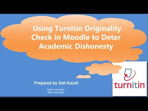 A Simple Way to Deter Academic Dishonesty in Moodle Using Turnitin