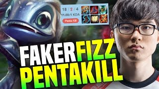 FAKER Plays FIZZ and DESTROYS Korea SOLOQ With an AMAZING PENTAKILL | SKT T1 Replays
