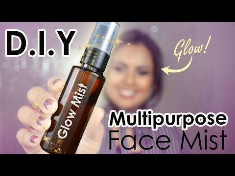 DIY Multipurpose Brightening Face Mist For Glowy Skin - Homemade Primer, Makeup Setting Spray, Toner