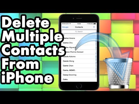 How to delete multiple contacts in iphone - Free