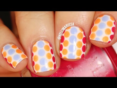EASY Polka Dot Nail Art Design Tutorial    KELLI MARISSA