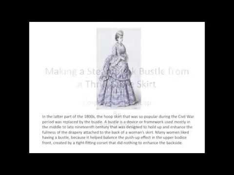 Make a Steampunk Bustle from a Thrift Store Skirt