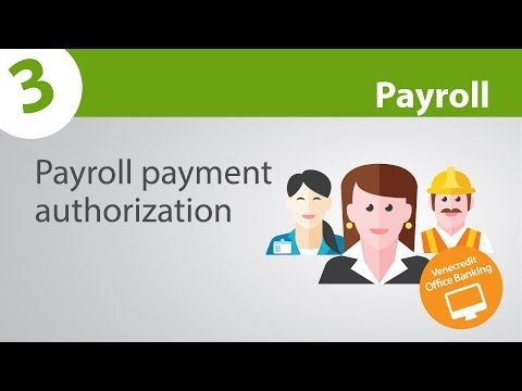 Payroll -  Payment authorization - Venecredit Office Banking