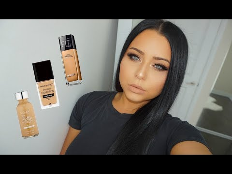 BEST Drugstore Foundations For Oily Skin | Reviews