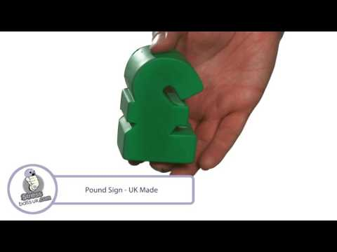 Pound Sign Shaped Stress Ball - UK Made