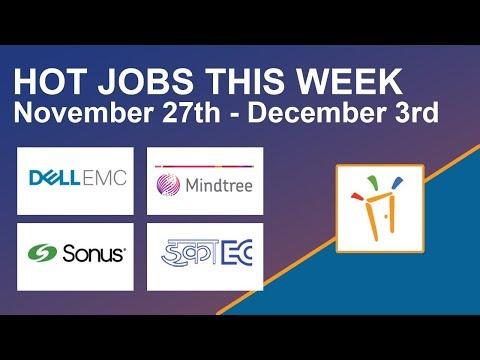 Freshersworld Hot Jobs Of The Week-(Nov 27th–Dec 3rd)- Sonus Networks, Dell EMC, ECIL, Mindtree