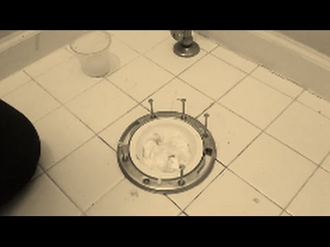 Remove and Install Toilet Flange   Part 2 -  Installing A Toilet flange over ceramic tile floor