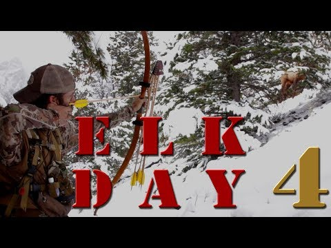 Bow Hunting Elk with recurve Self bow - Clay Hayes Day 4 on Public Land