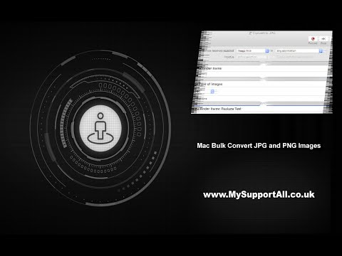 Mac Bulk Convert JPG and PNG files