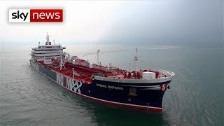 British-operated oil tankers seized by Iran