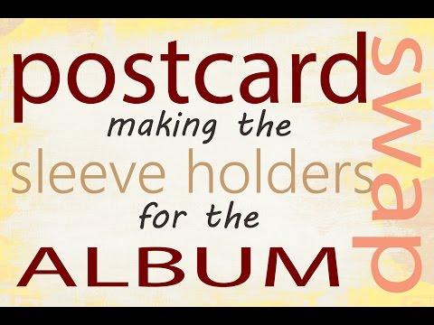 Postcard Album - Creating the Sleeve Holders