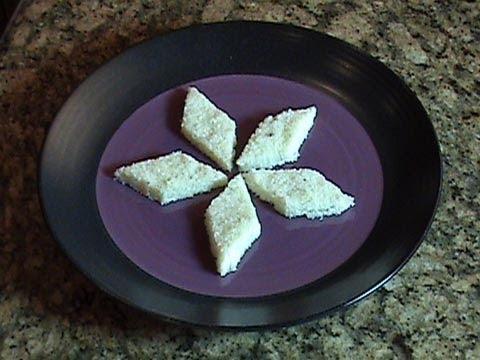 Coconut Burfi - Indian Dessert (Mithai Recipe)