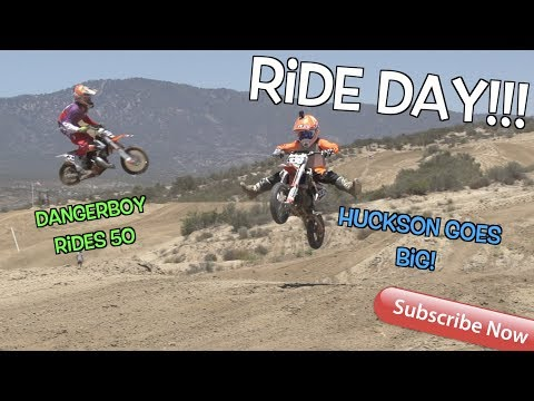 Ride Day At Cahuilla MX! Hudson's Back and Goes Big!