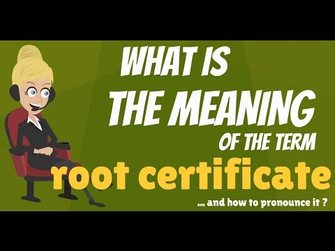 What is ROOT CERTIFICATE? What does ROOT CERTIFICATE mean? ROOT CERTIFICATE meaning & explanation