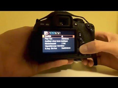 Canon Raw Format einstellen - Spiegelreflexkamera [600D, 650D, 700D, Tutorial]