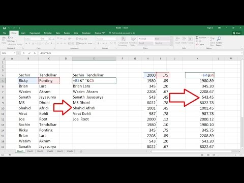 MS Excel How to Combine Multiple Cells Text into One Cell (Easy)