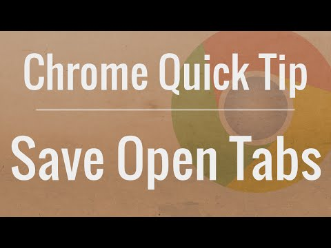Chrome Quick Tip: Quickly Bookmark Open Tabs for Later Viewing