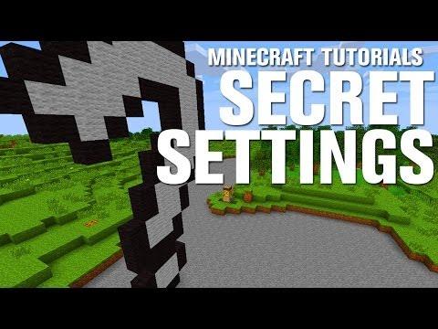 Minecraft Tutorials: Super Secret Settings