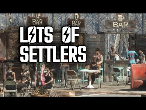 How to Attract LOTS of Settlers - Fallout 4 Settlements