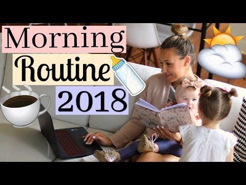MORNING ROUTINE - YOUTUBE MOM OF 2   MOMMY MORNING ROUTINE 2018   Tara Henderson