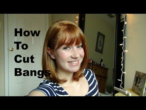 How to Cut Your Own Bangs/Fringe!