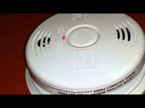 The new Talking Kidde combination Fire/CO Alarm in action.