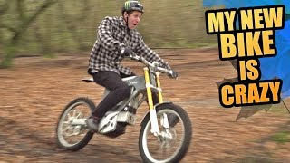 MY NEW BIKE IS CRAZY - ELECTRIC MOTOCROSS MTB HYBRID