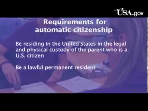 Some Children Automatically Become U S  Citizens